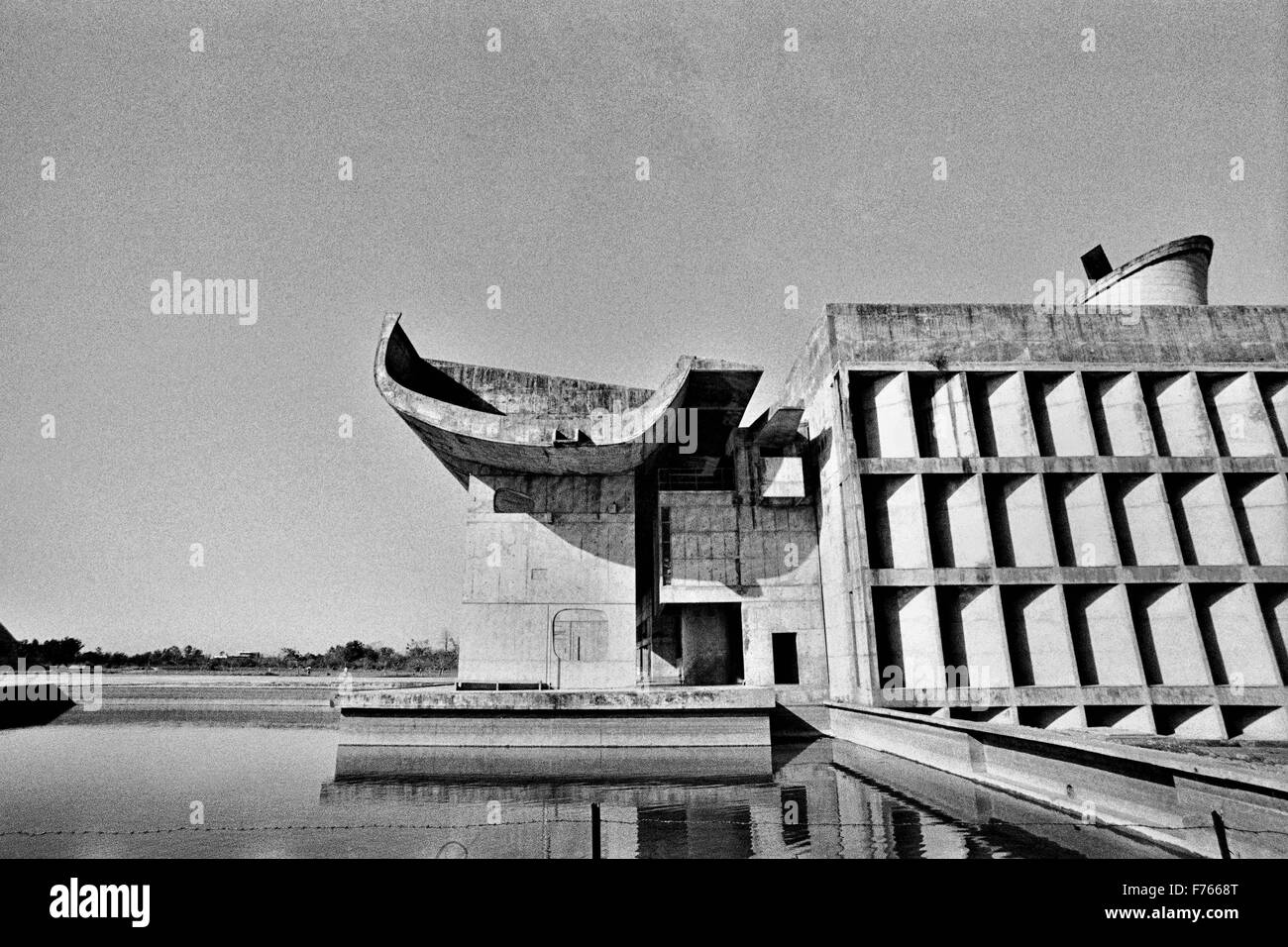 le corbusier design architecture, chandigarh, union territory Stock ...