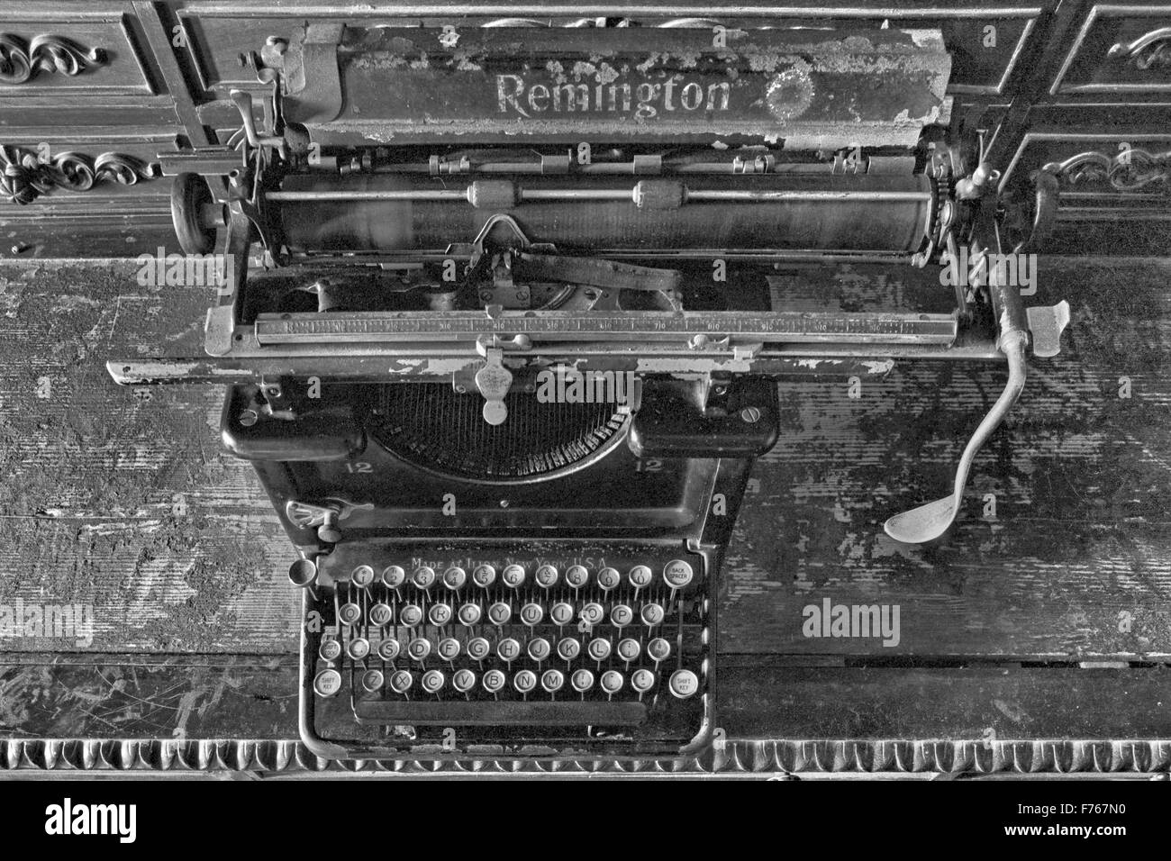 Antique remington typewriter - Stock Image