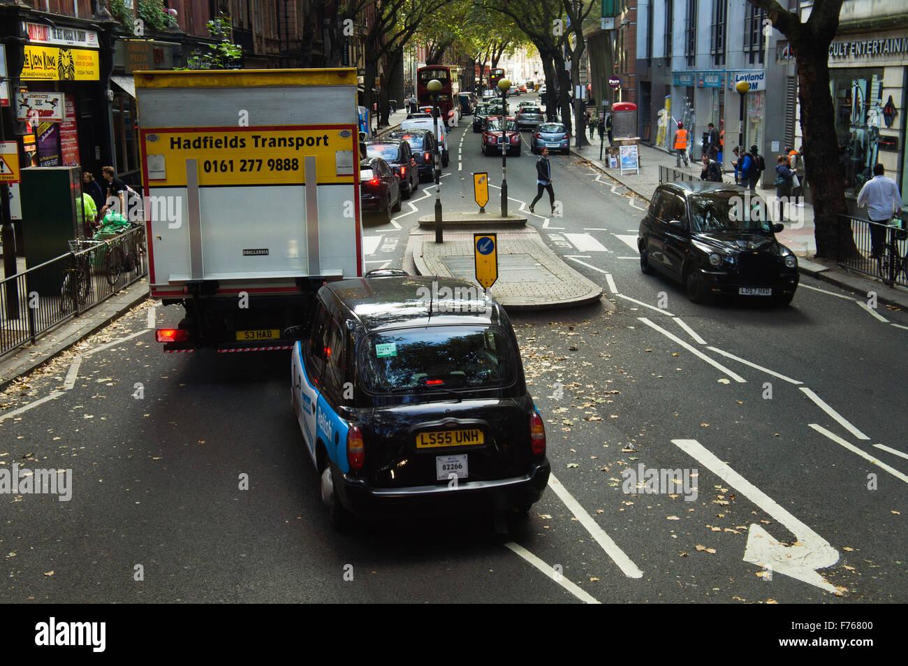 London taxi, hackney carriage, black cab, hack - Stock Image