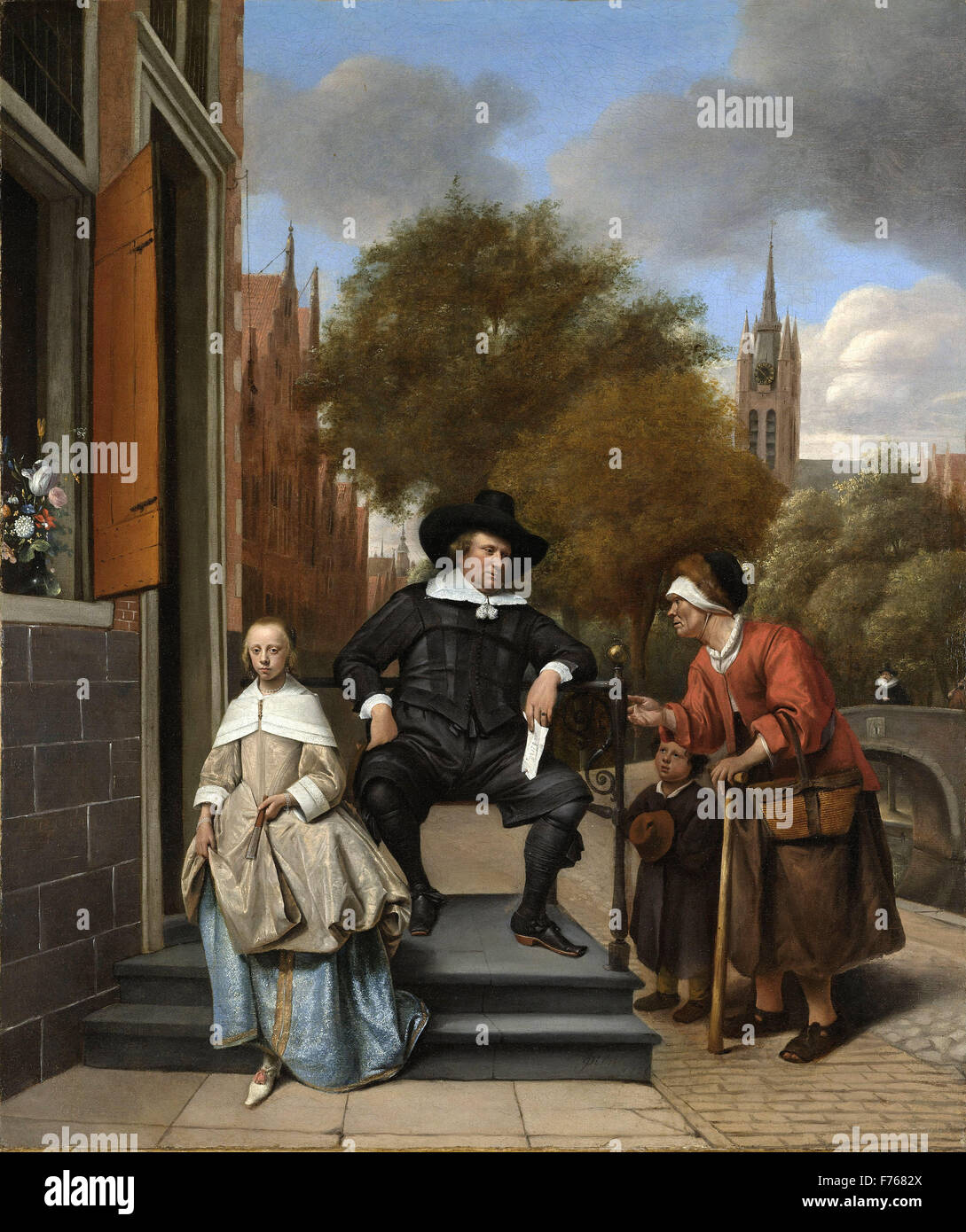 Jan Steen - Adolf and Catharina Croeser, Known as 'The Burgomaster of Delft and his Daughter' Stock Photo
