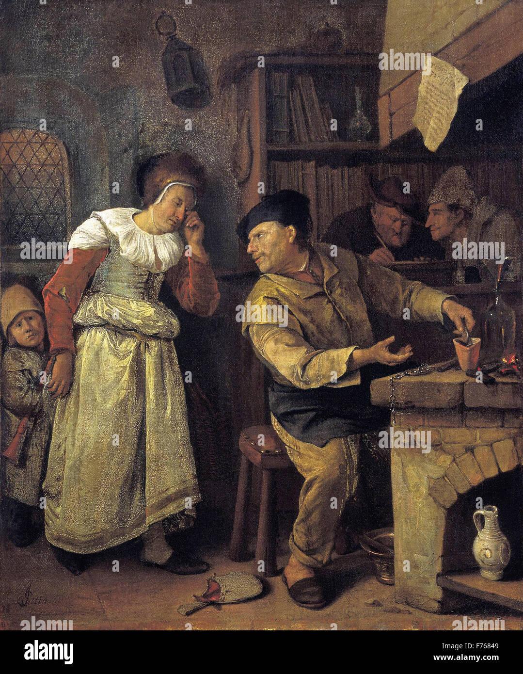 Jan Steen - The Alchemist - Stock Image