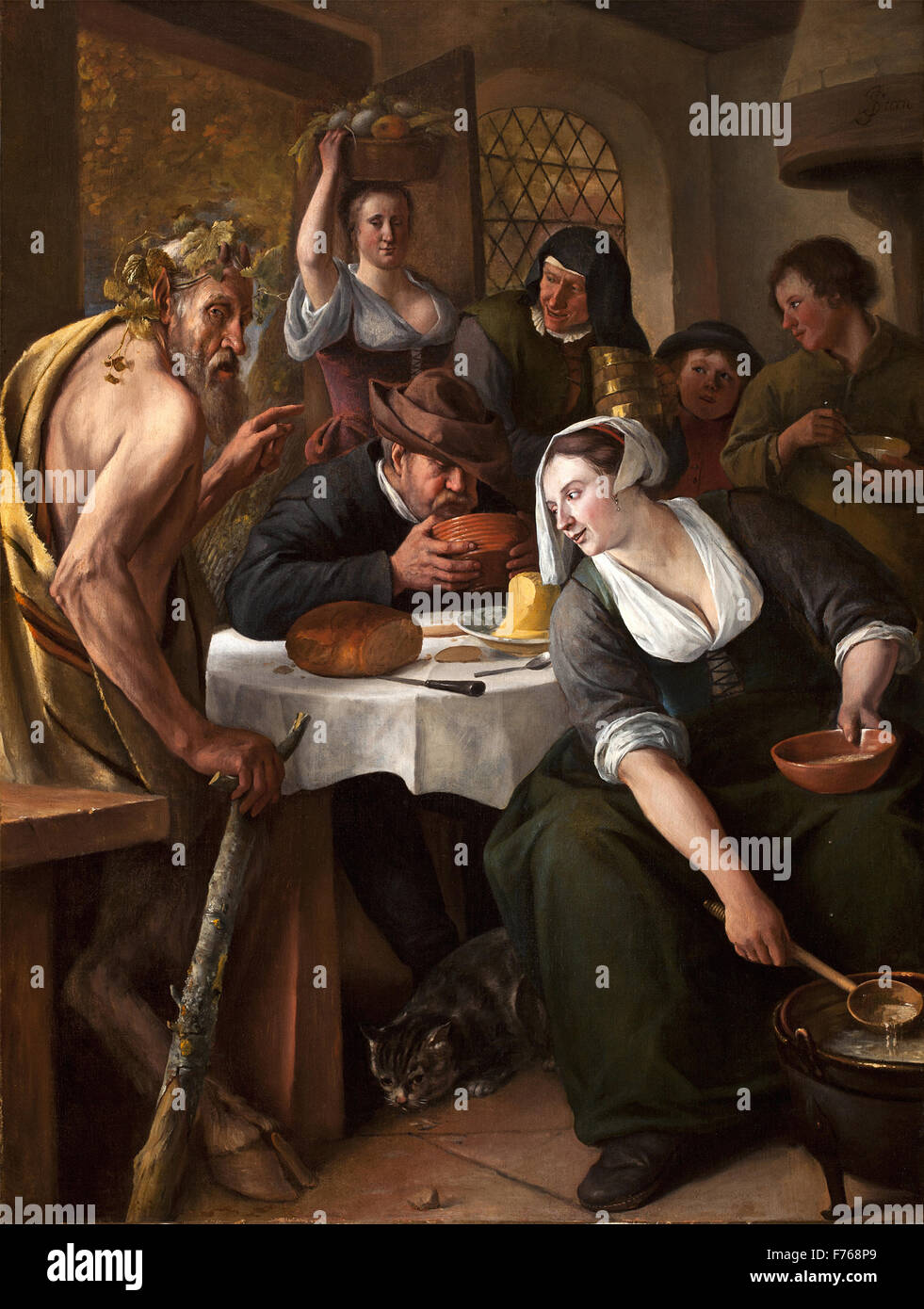 Jan Steen - The Satyr - Stock Image