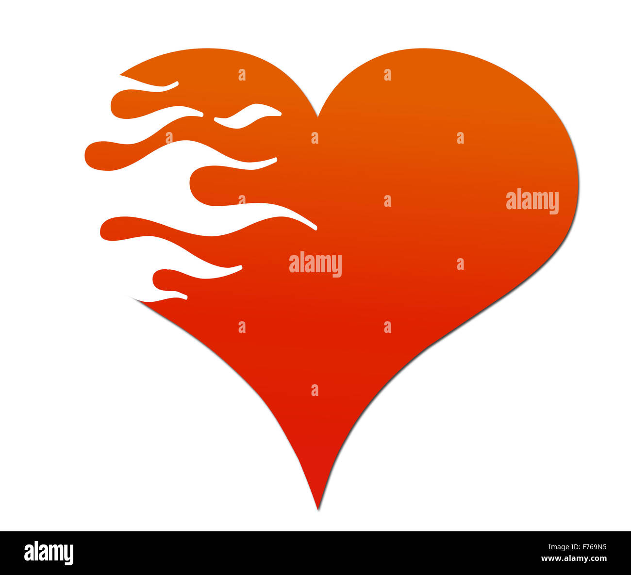 a7f516288190 Flaming Heart Stock Photo  90493793 - Alamy