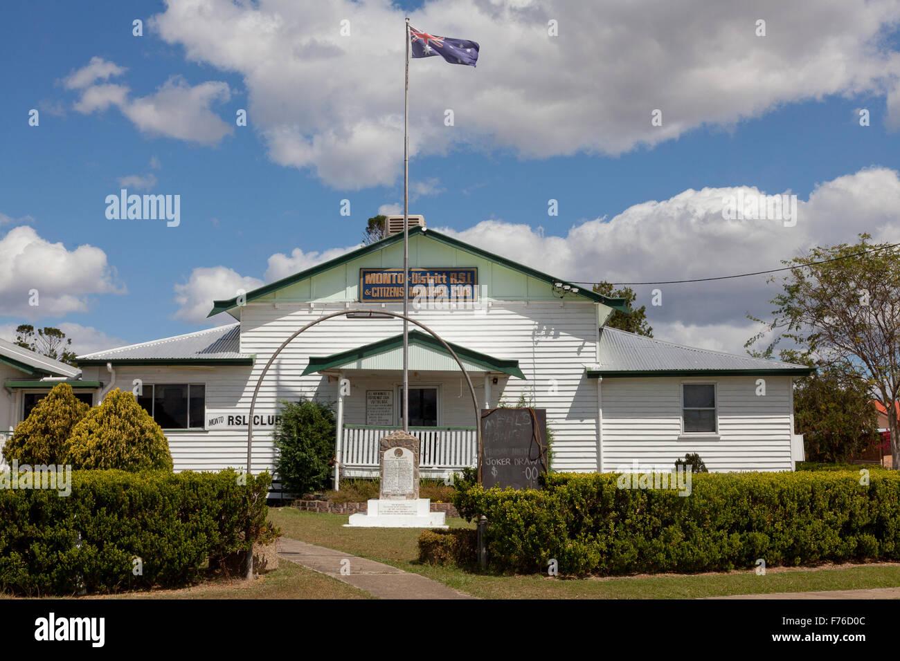 Monto & District RSL, Monto, Queensland, Australia - Stock Image