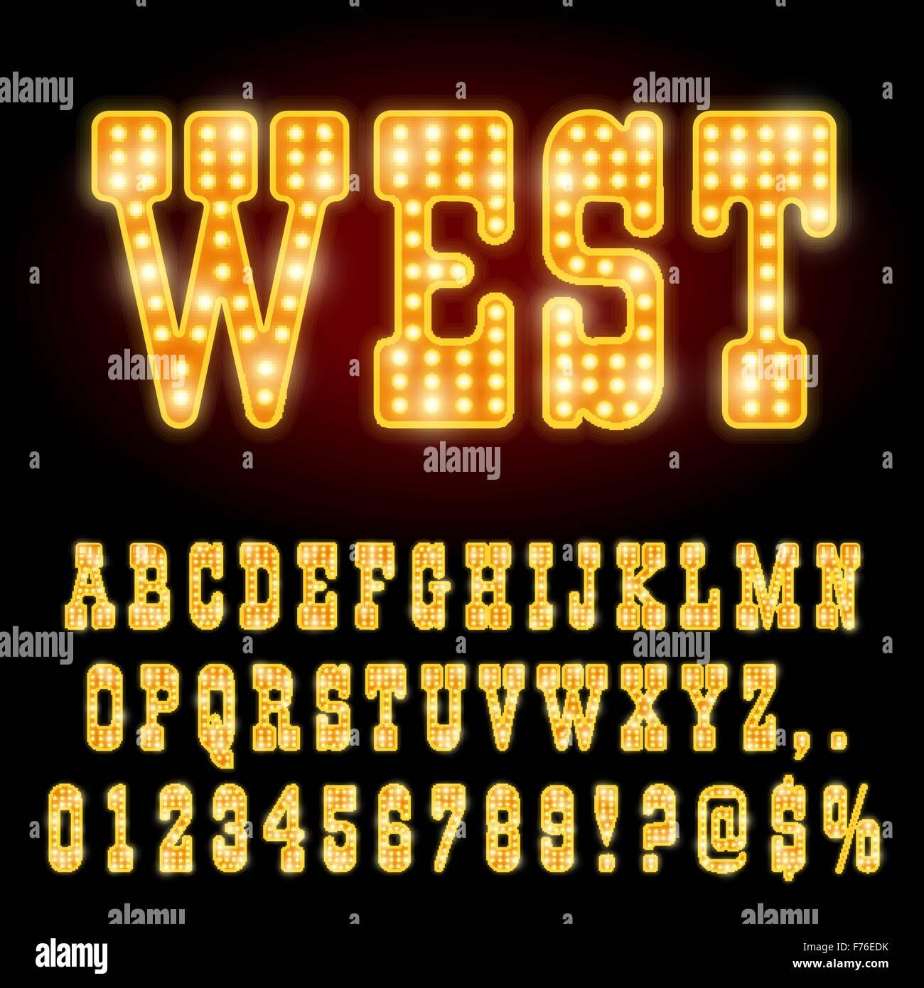 Neon Cowboy Stock Vector Images Alamy