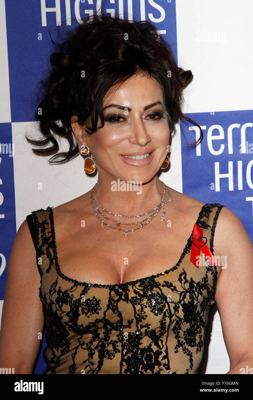Mar 12, 2015 - London, England, UK - Nancy Dell'Olio attends Terrence Higgins Trust 'The Auction' - Stock Image