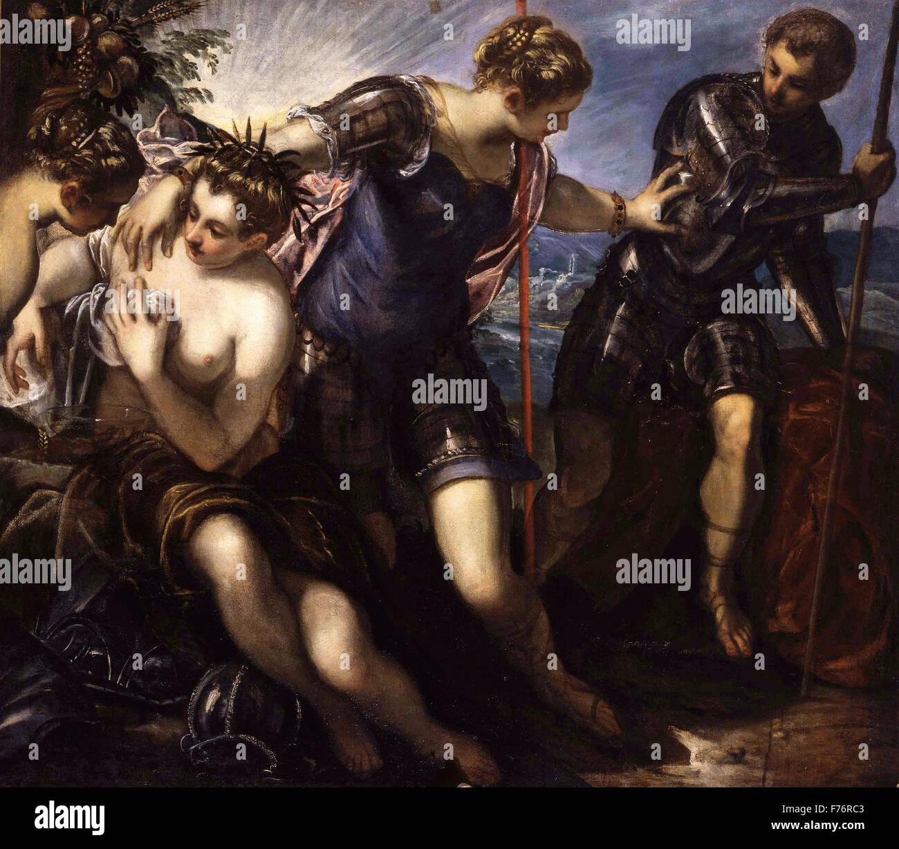Jacopo Tintoretto - Minerva, Mars and Peace - Stock Image