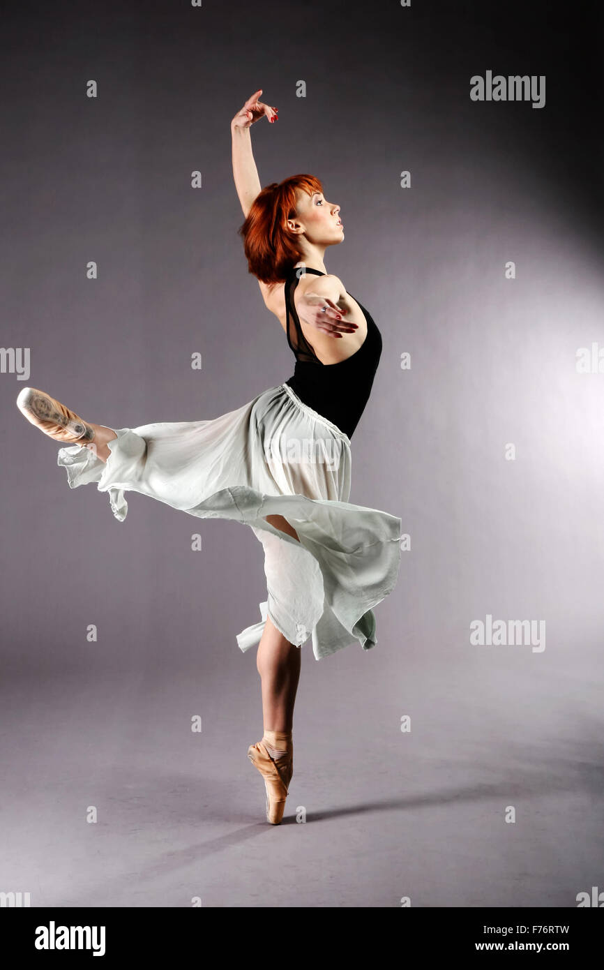 Ballet dancer performing Stock Photo