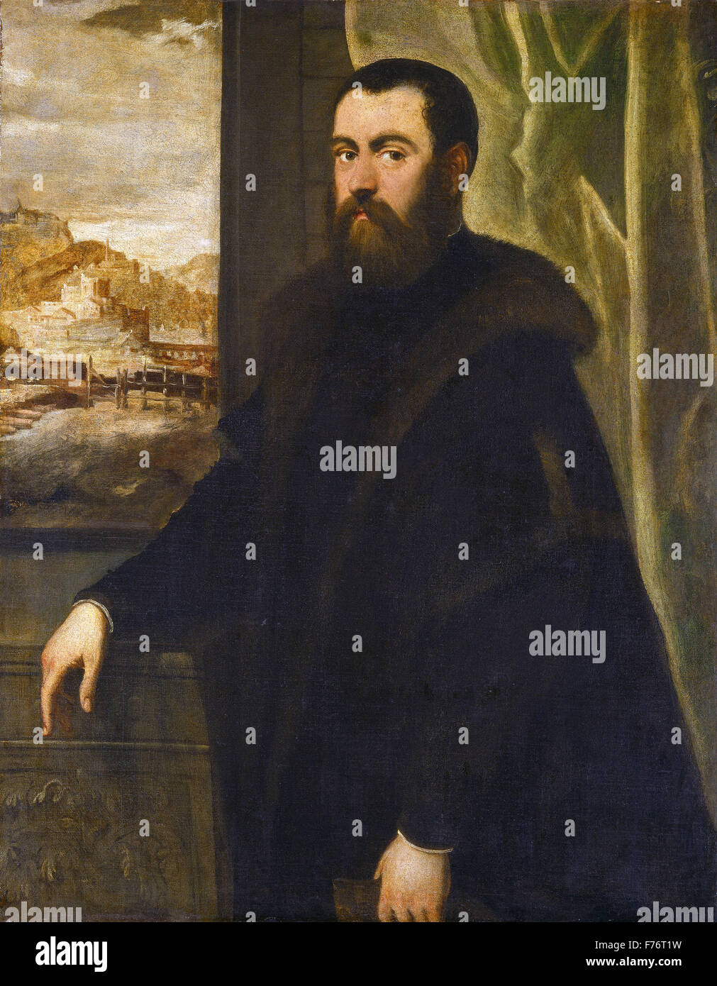 Jacopo Tintoretto - Portrait of a Venetian Senator - Stock Image