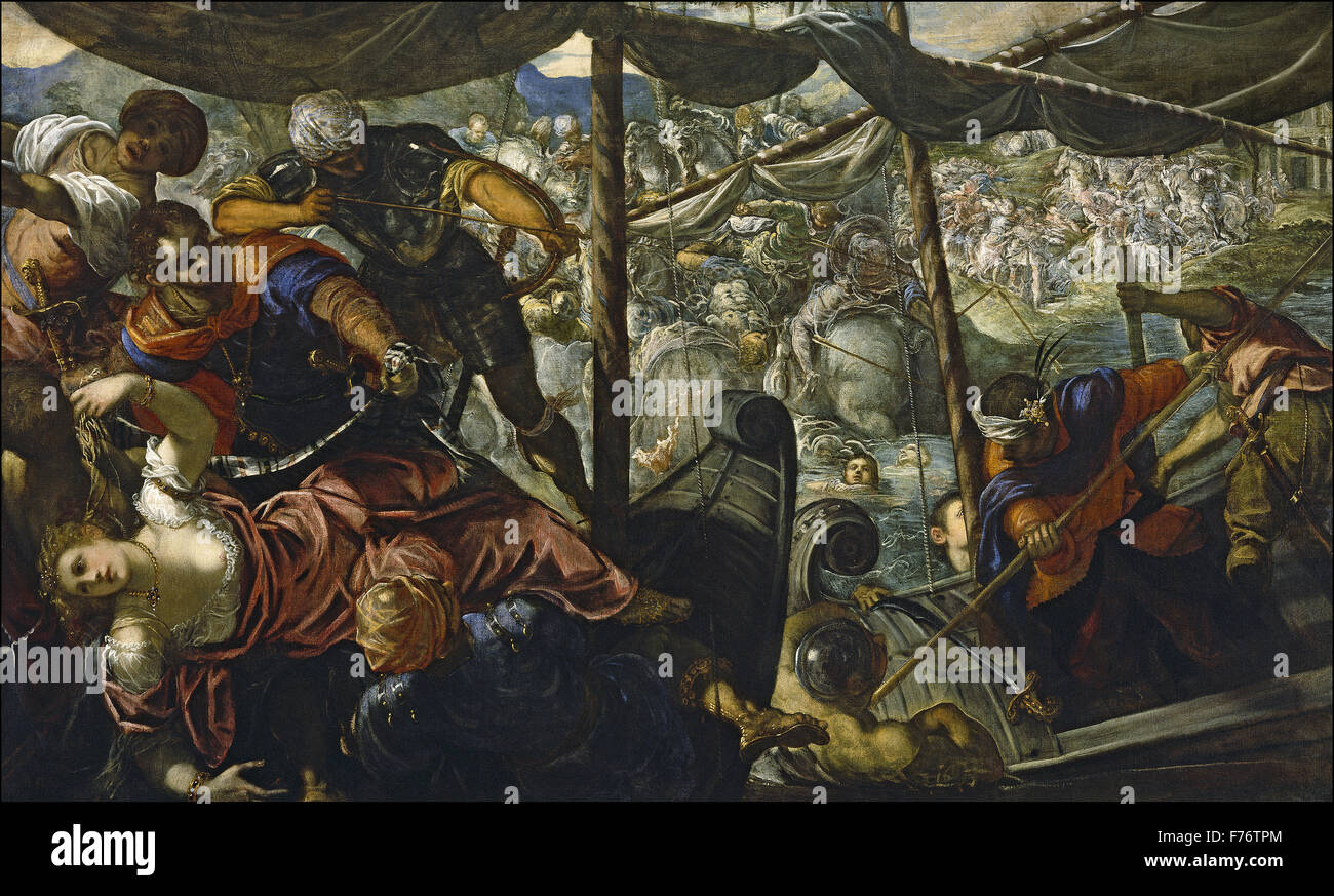 Jacopo Tintoretto - The Abduction of Helen - Stock Image