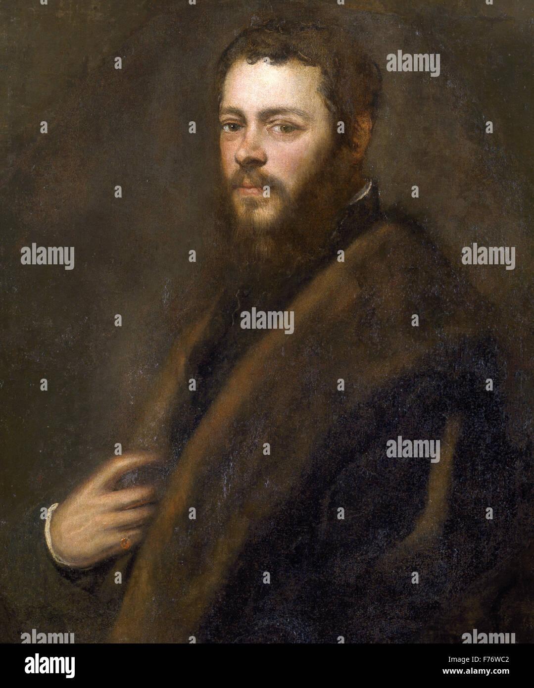 Jacopo Tintoretto - A Venetian Patrician Stock Photo