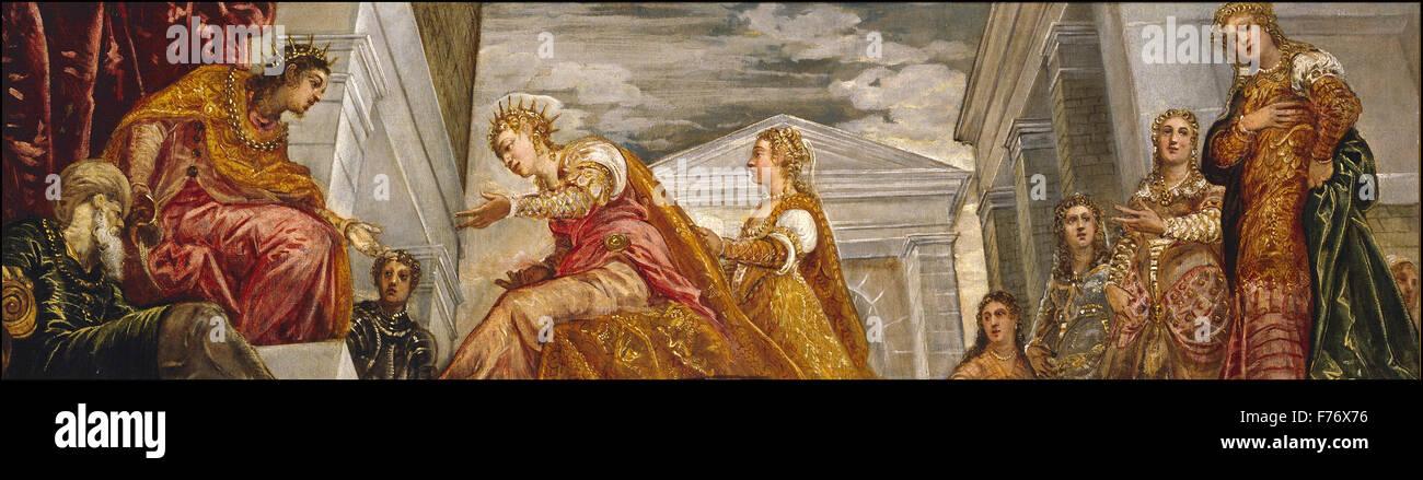 Jacopo Tintoretto - The Queen of Sheba and Salomon - Stock Image