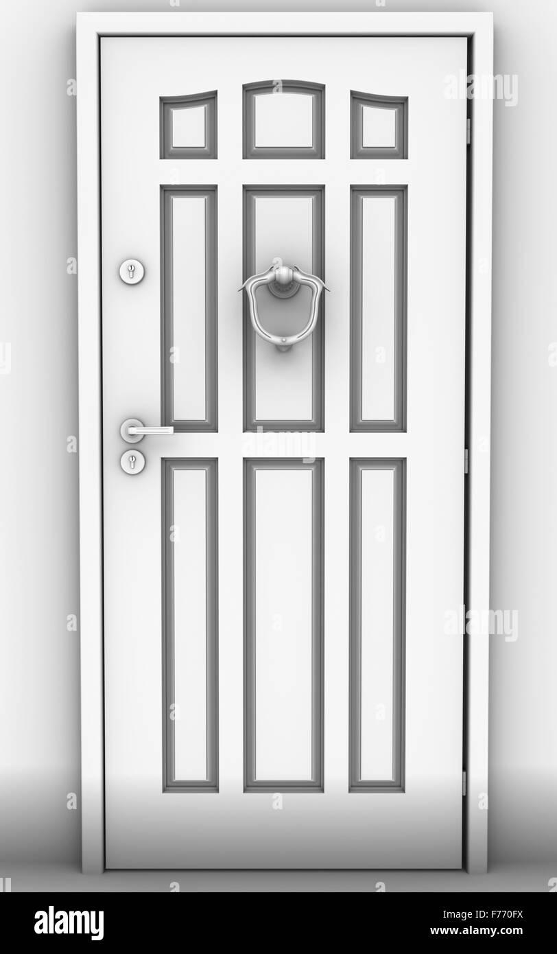 The close Door - Stock Image