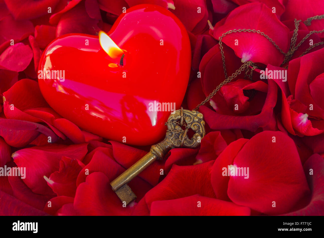Candle Heart Symbol Key Love Rose Stock Photos Candle Heart Symbol