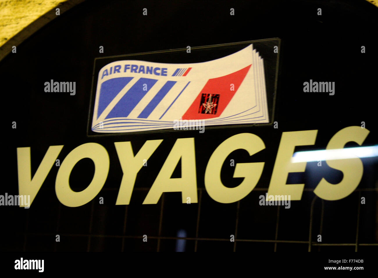 Markennamen: 'Air France Voyages', Chamonix, Frankrfeich. - Stock Image