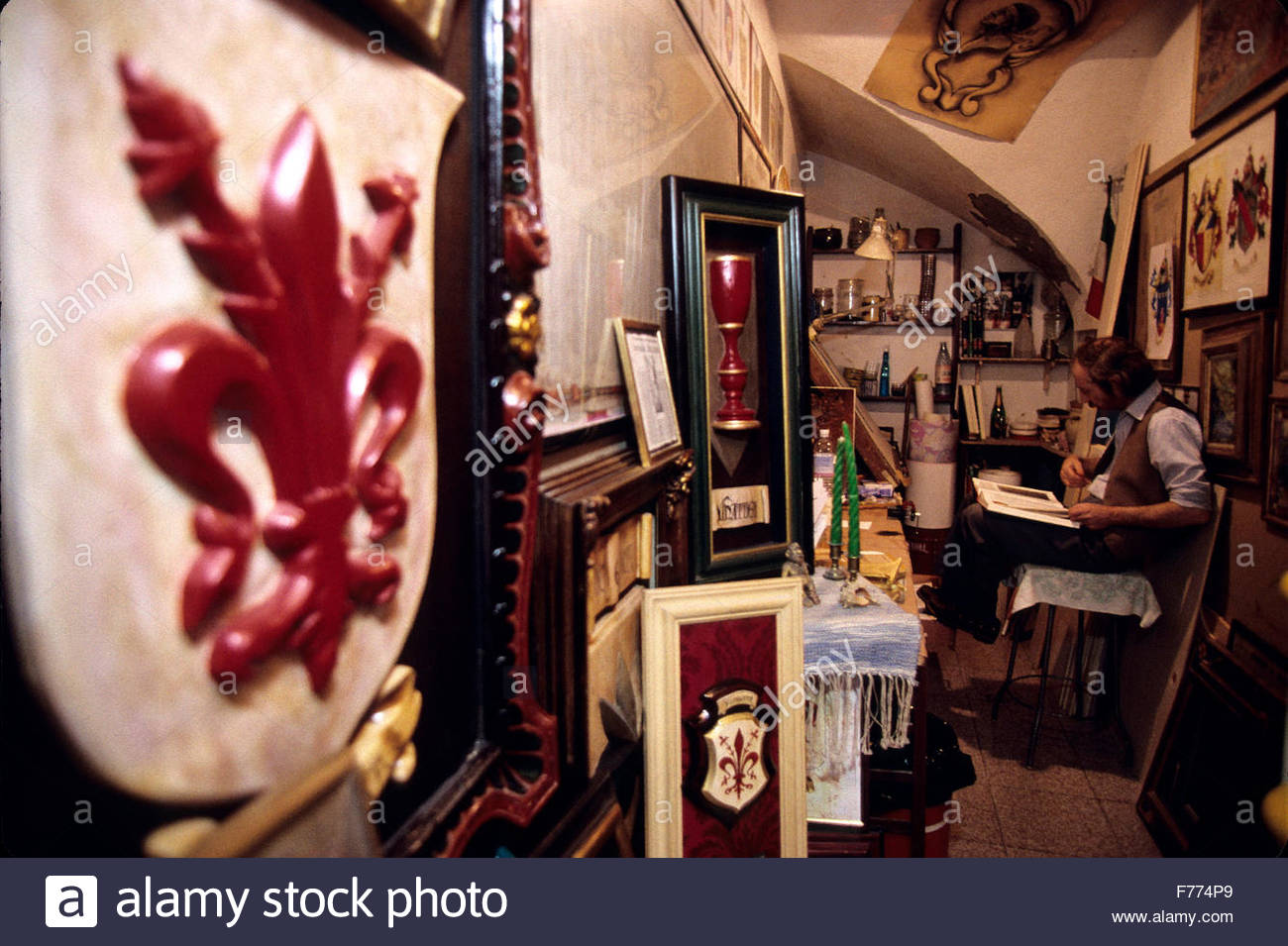Tuscany, Florence, 'Lo Stemmaro' heraldry research - Stock Image