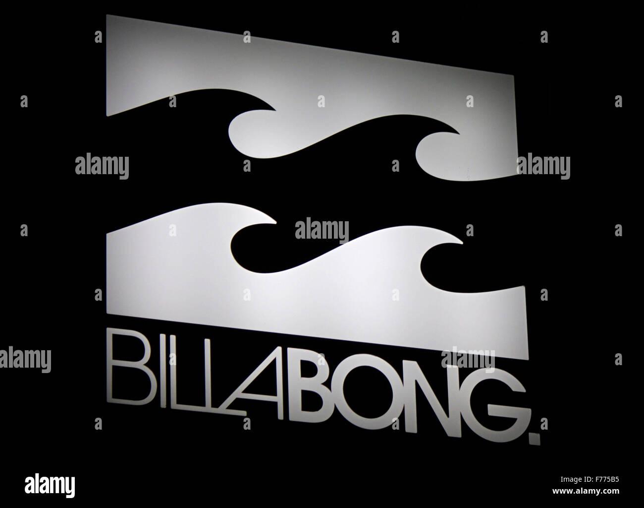 Markennamen: 'Billabong', Chamonix, Frankrfeich. - Stock Image