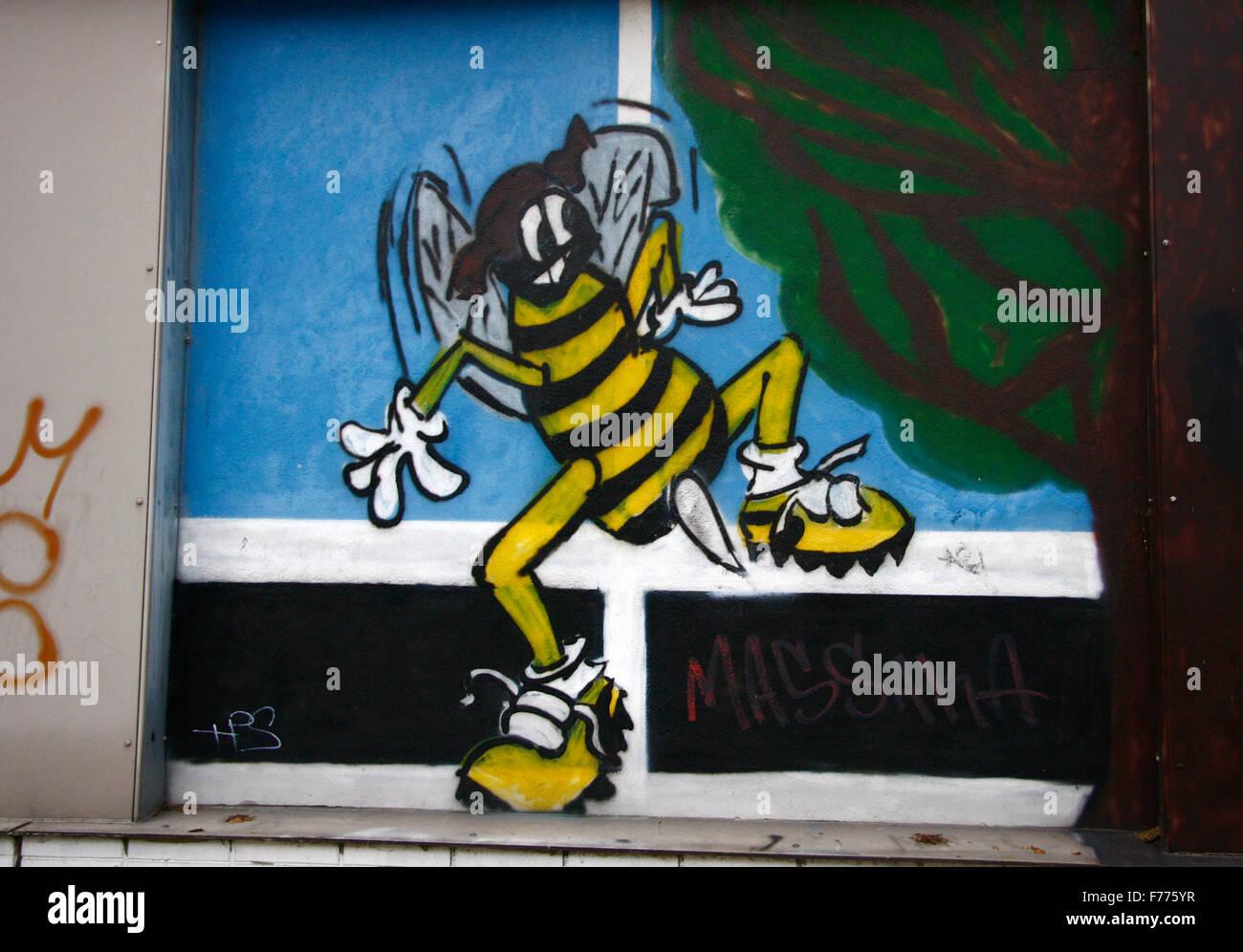 Graffities, Berlin-Kreuzberg. - Stock Image