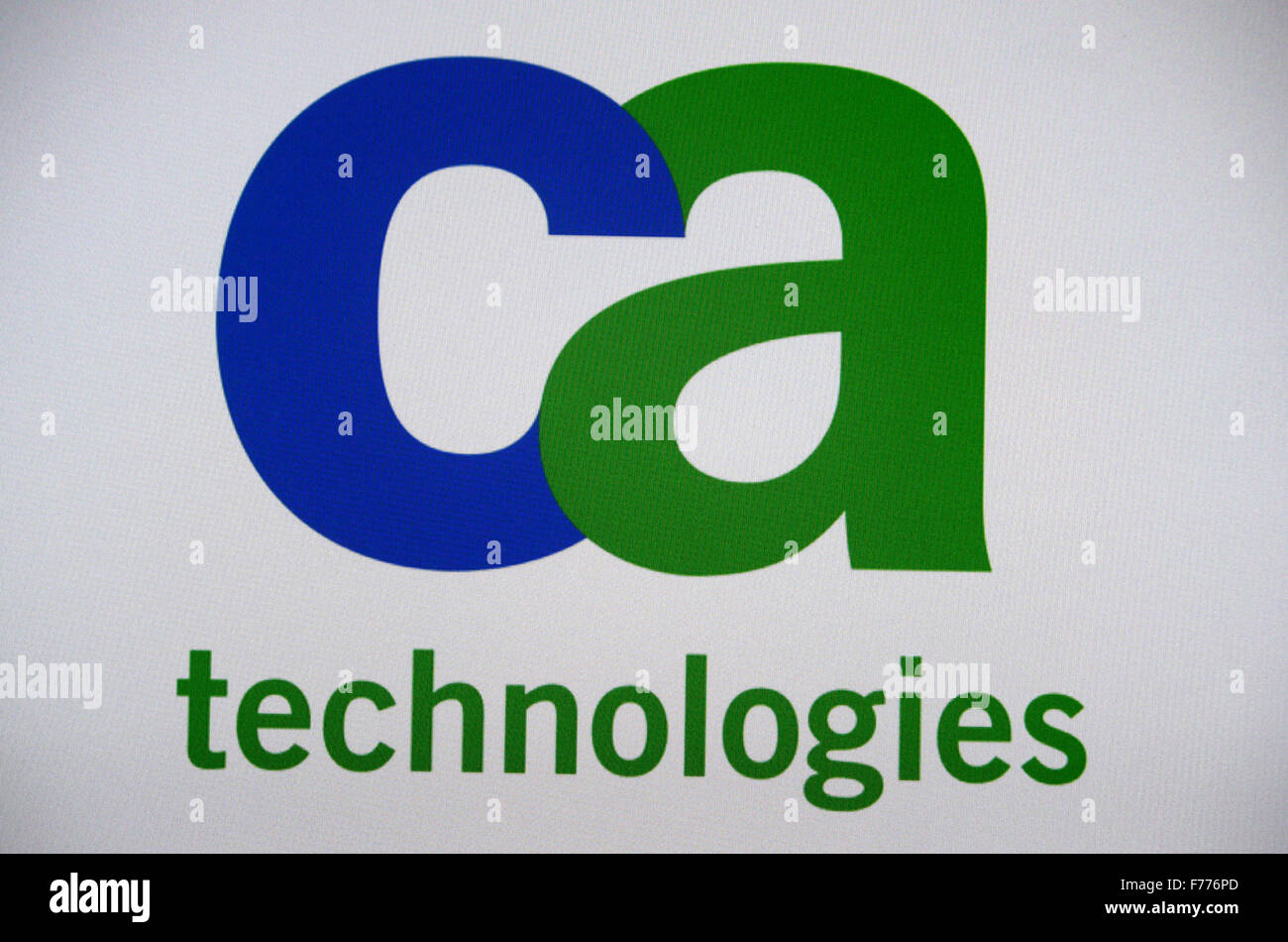 Markenname: 'CA Technologies', Berlin. - Stock Image