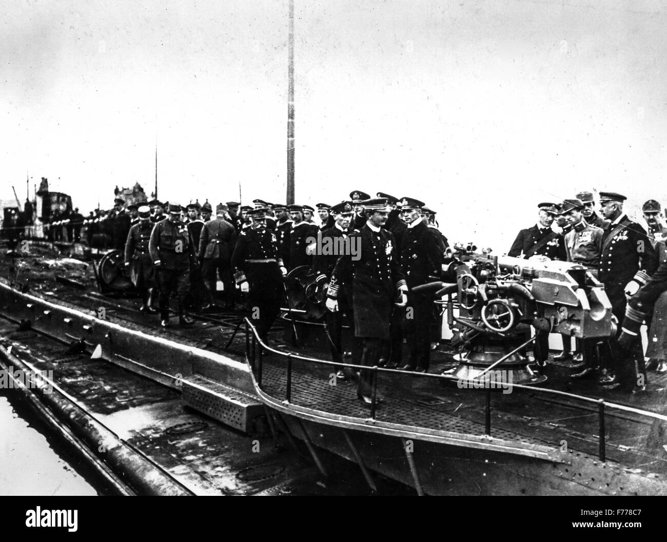the Emperor of Austria Charles I visited a naval base in Pula ,1915-1918 - Stock Image