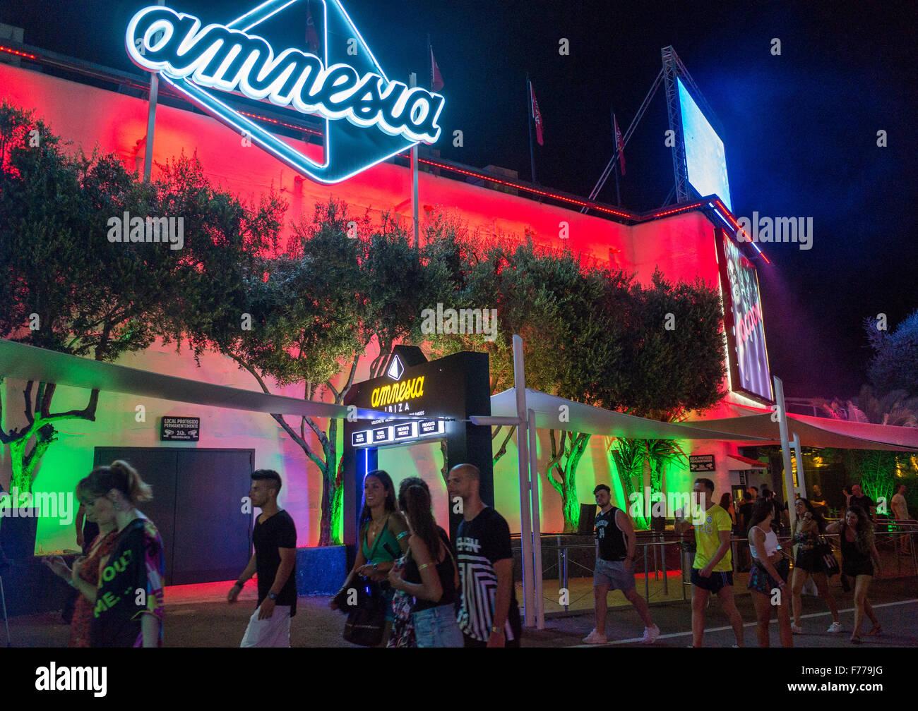 Entrance to Amnesia club in Ibiza - Stock Image