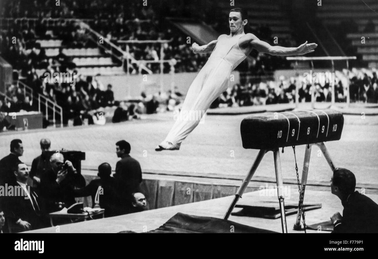 Mikhail voronin,Russian gymnast,champion in 1965 - Stock Image