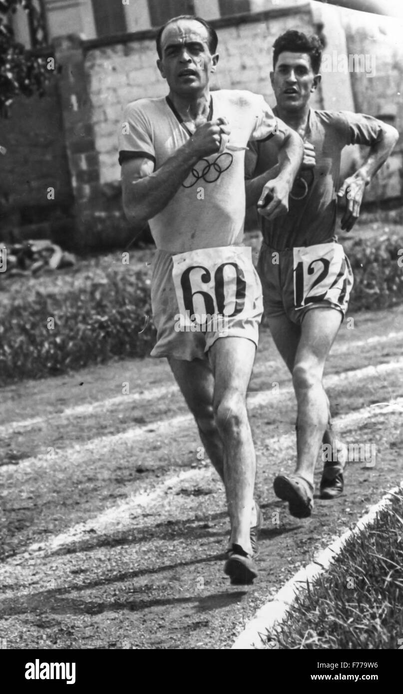 ugo frigerio,Olympic gold medal in 1920 for the march - Stock Image