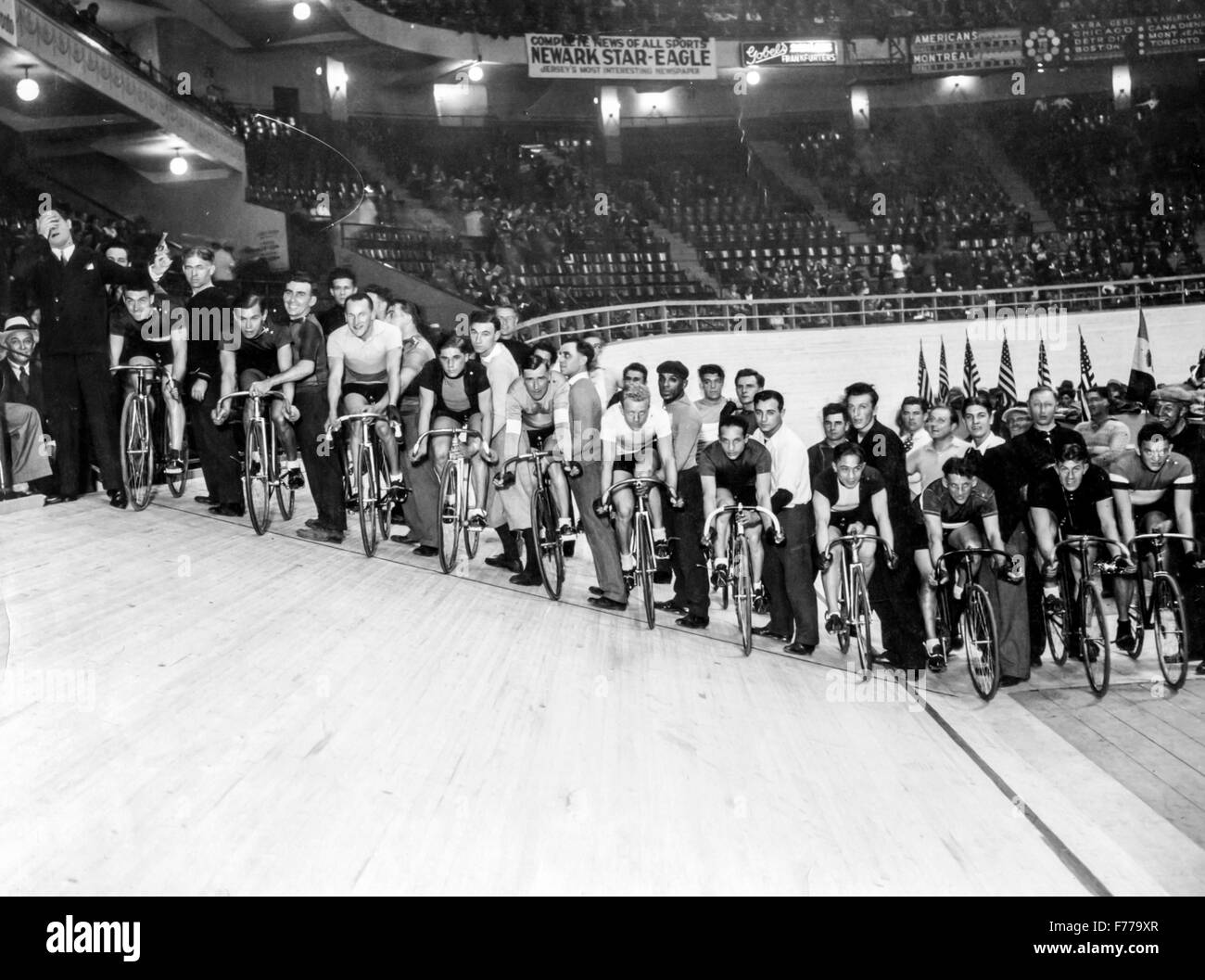 track cycling,new jersey,50s - Stock Image