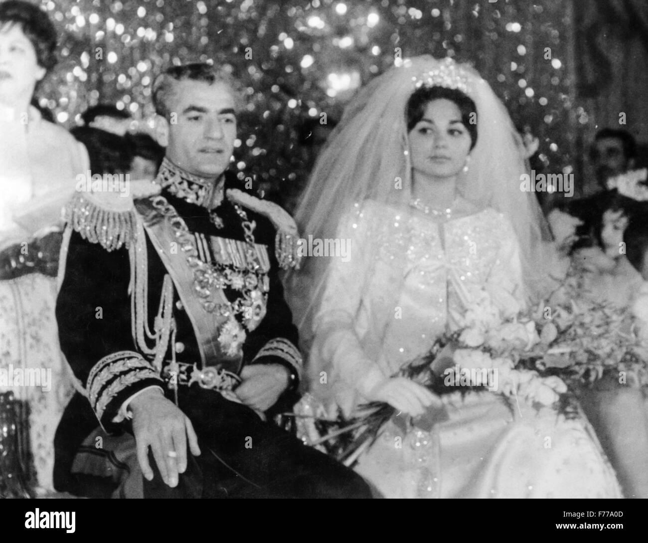 wedding of Mohammed Reza Pahlavi and Farah Diba,tehran,iran