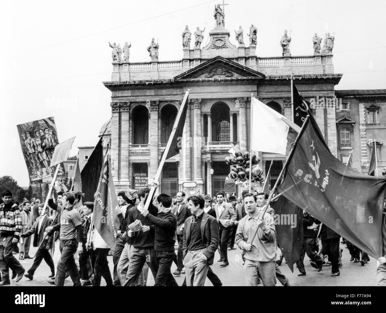 1st May in Rome,the event pci 1966 - Stock Image