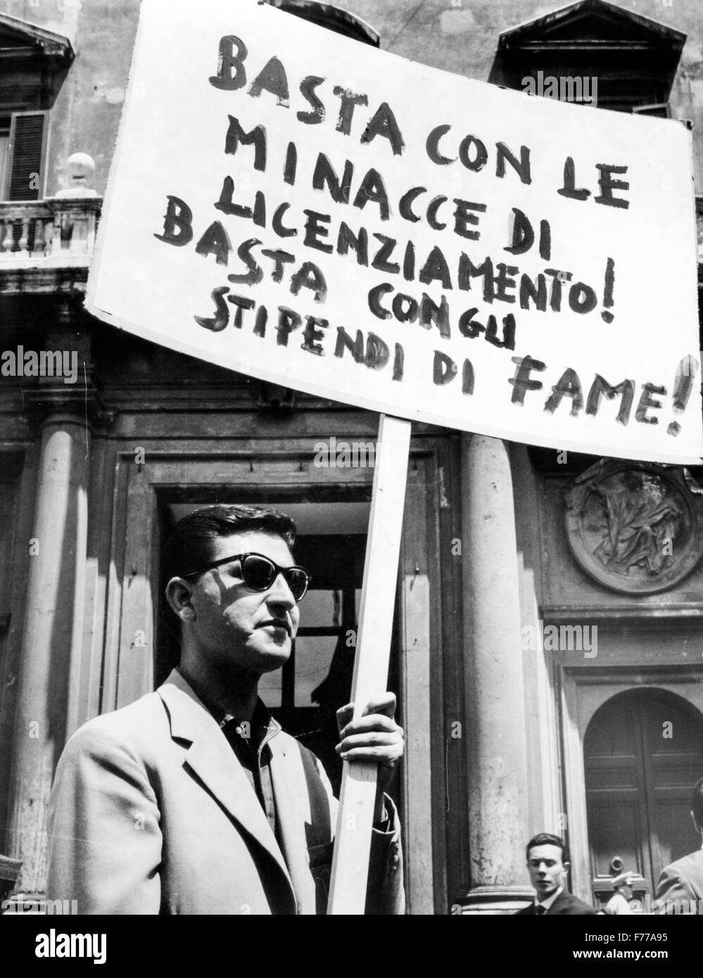 1st May in Rome,manifestation,1966 - Stock Image