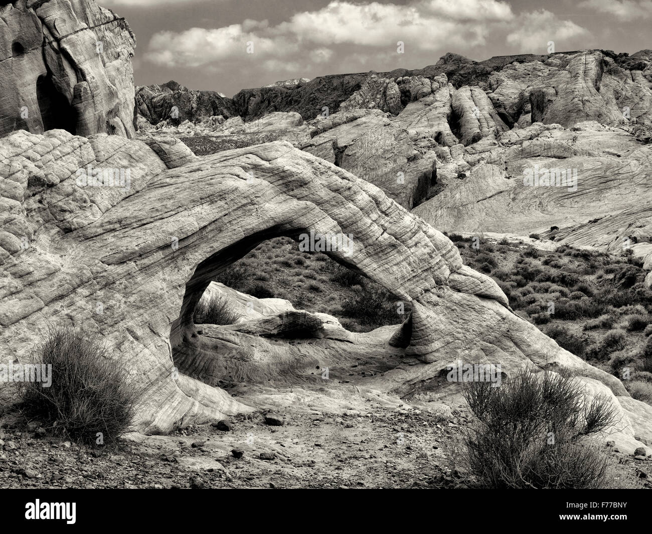 White Arch. Valley of Fire State Park, Nevada - Stock Image