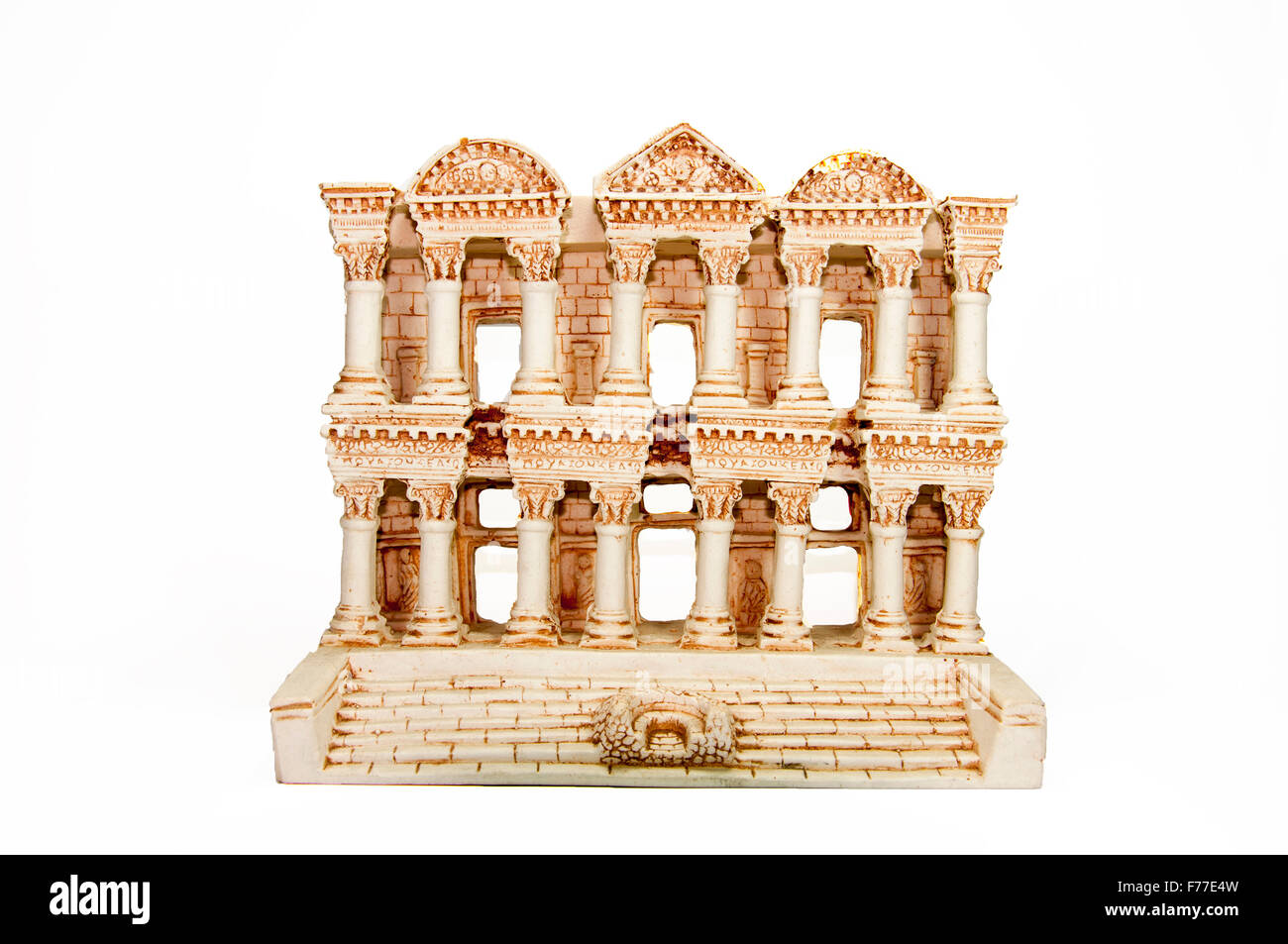 Miniature Model of Celsus Library - Stock Image