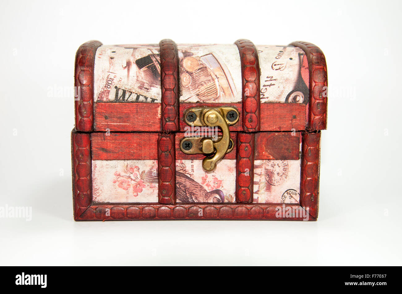 A wooden jewel box. Could be used as a treasure chest. Stock Photo