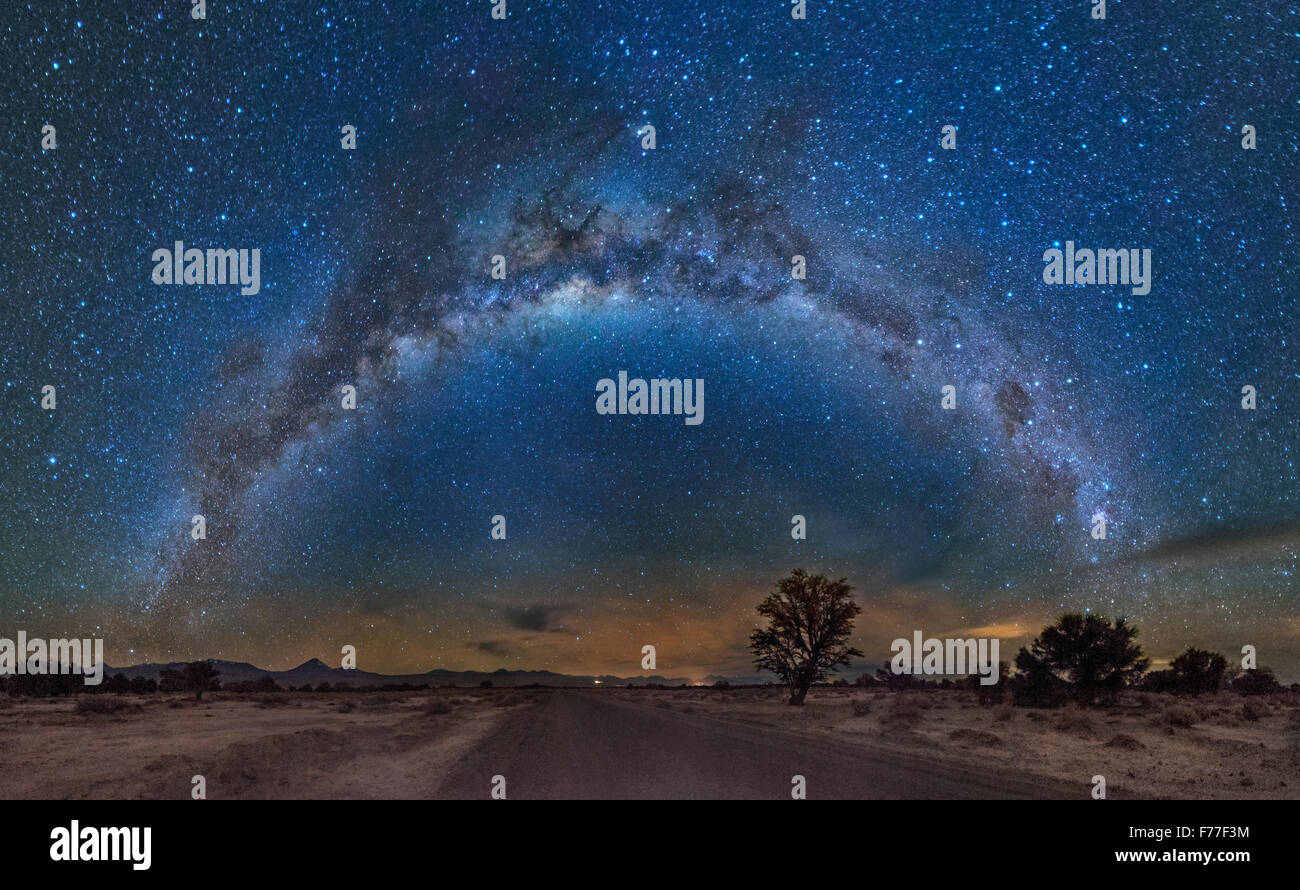 Milky Way over the Atacama desert - Stock Image