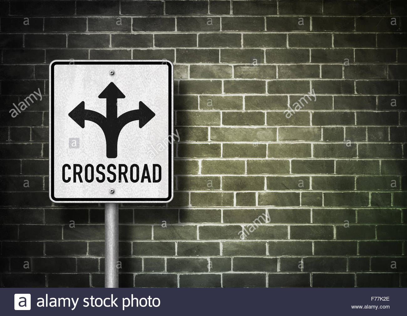 Crossroad - Road sign - Stock Image