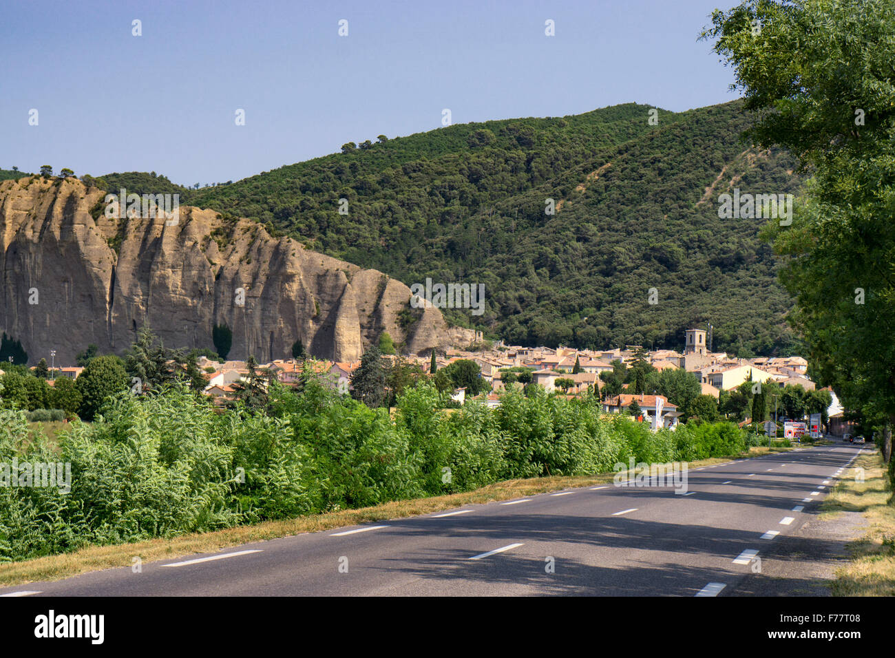 The Penitents des Mees, between Forcalquier, Sisteron and Digne, Alpes-de-Haute-Provence, France - Stock Image