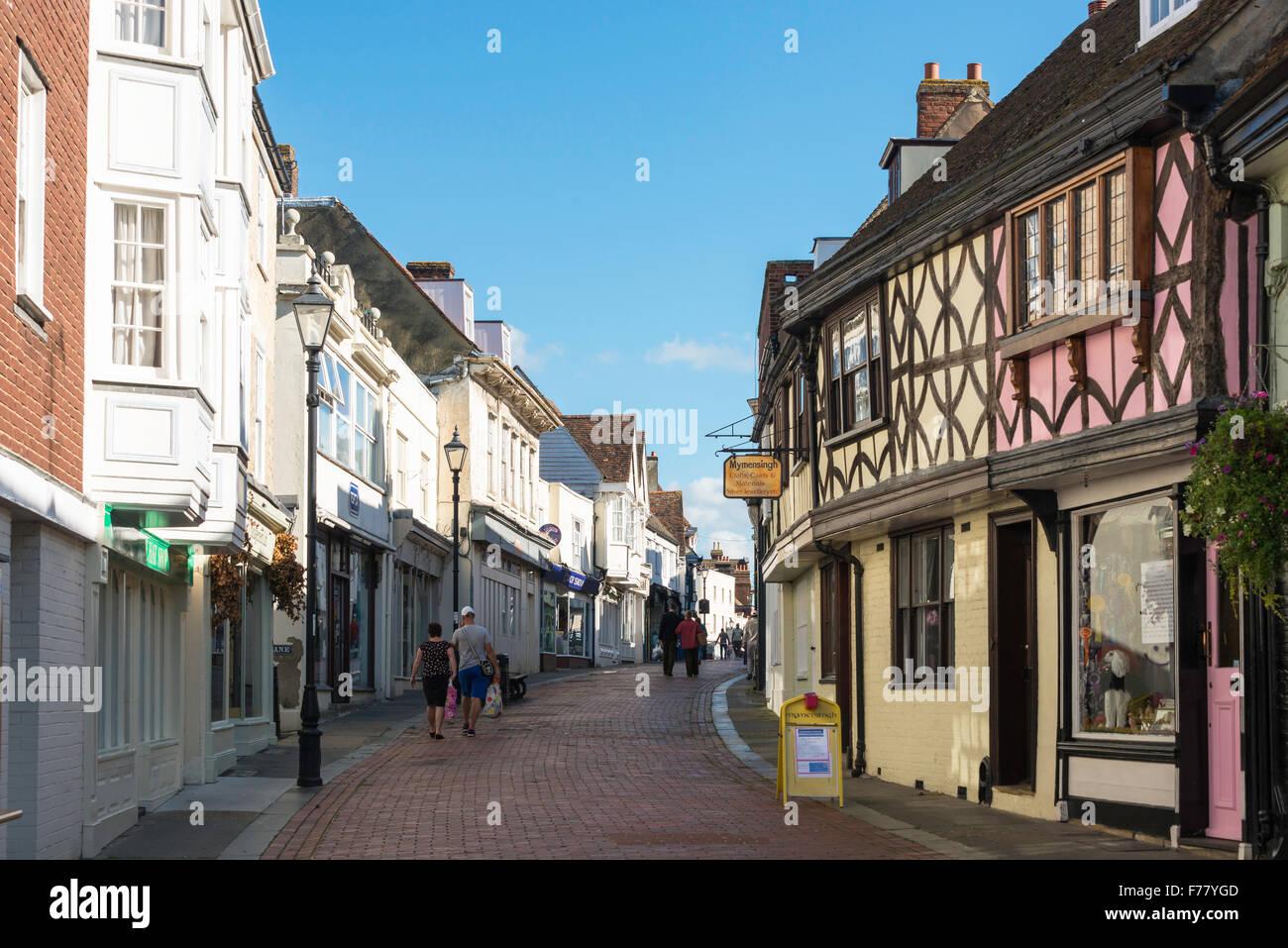West Street, Faversham, Kent, England, United Kingdom Stock Photo
