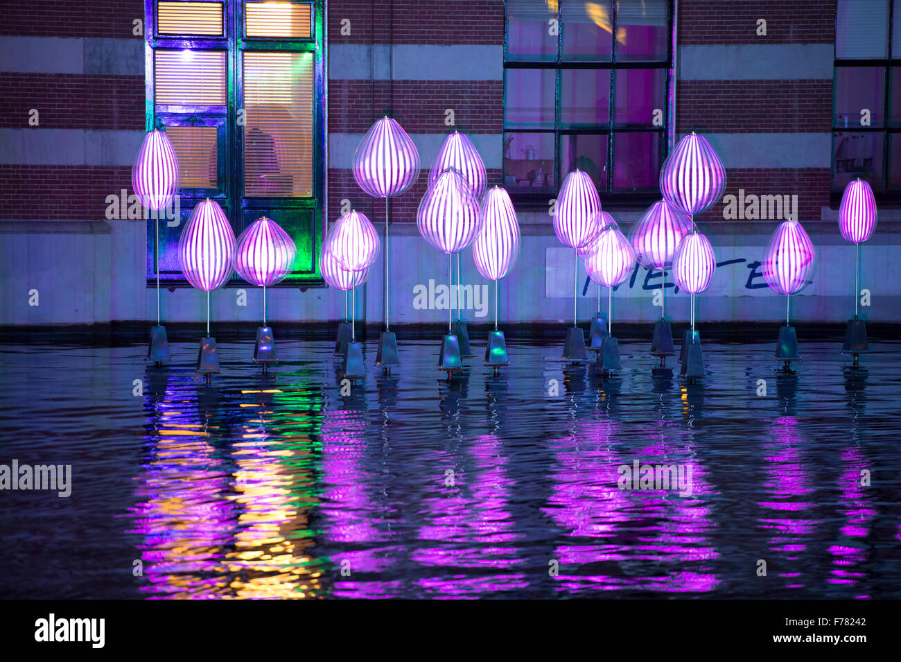 Amsterdam, The Netherlands, 26th November 2015: Holon Light, by Michiel Martens & Jetske Visser, at the fourth annual Stock Photo