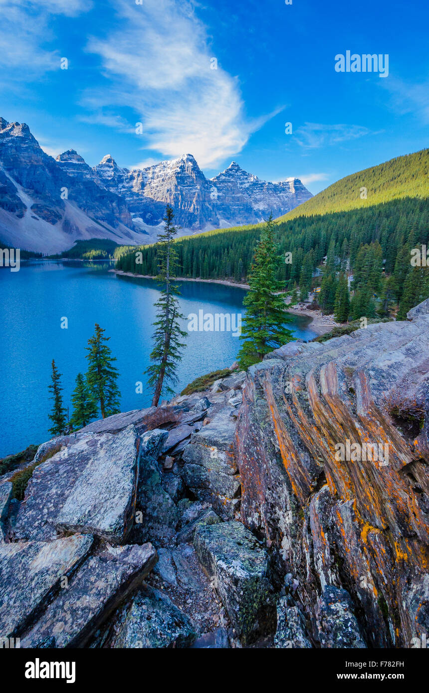 Moraine Lake,  Banff National Park, Alberta, Canada - Stock Image