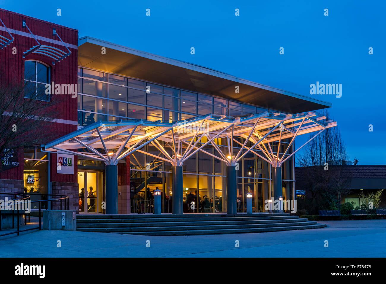 ACT, Arts Centre and Theatre Complex, District of Maple Ridge, British Columbia, Canada Stock Photo