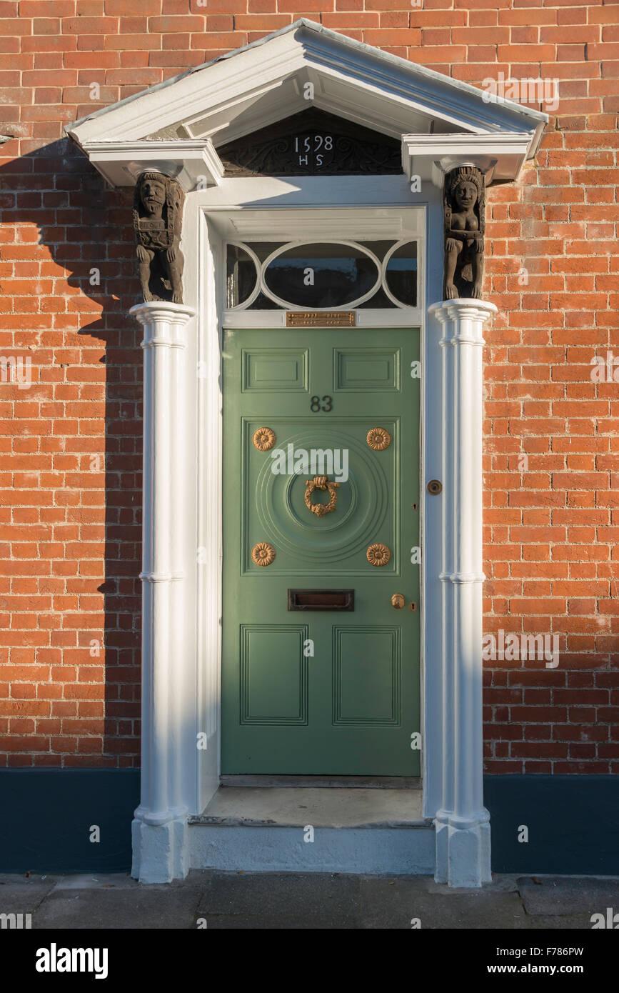 Georgian doorway, Abbey Street, Faversham, Kent, England, United Kingdom Stock Photo
