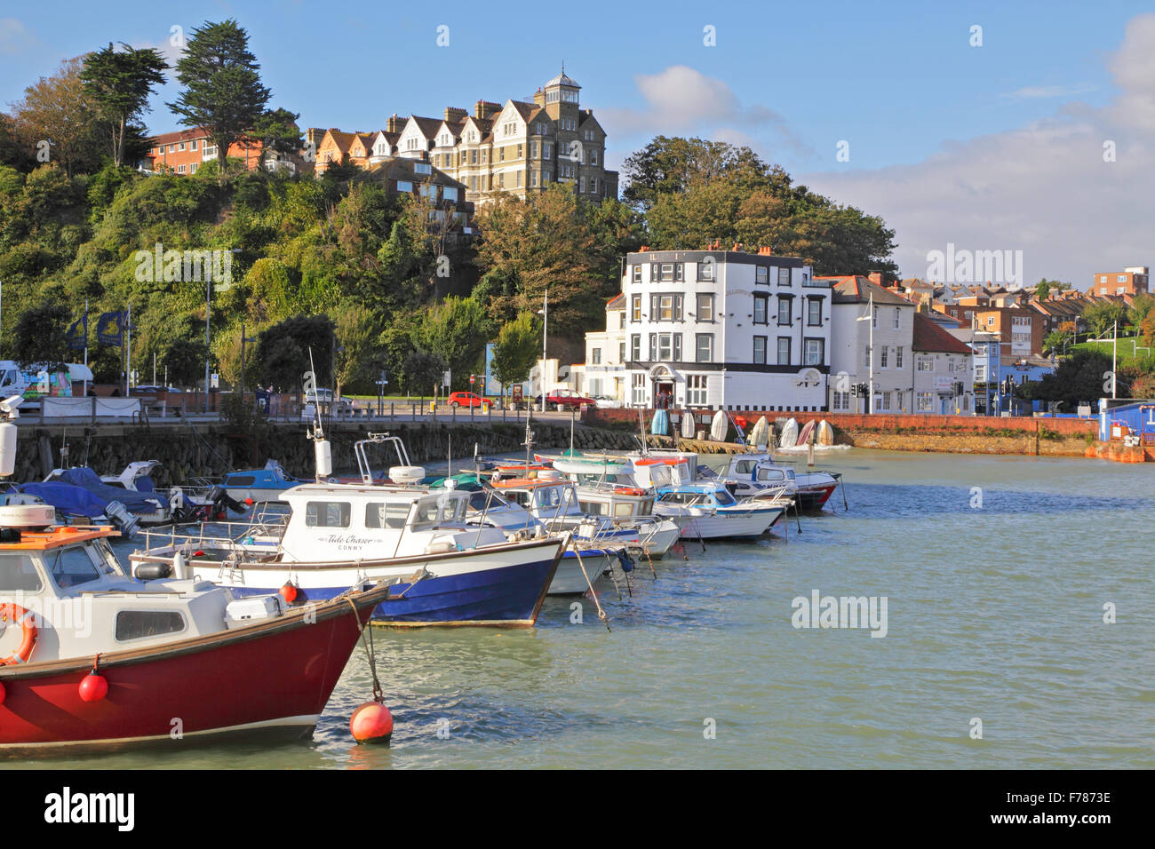 Folkestone, Inner Harbour, Kent, England, UK, GB - Stock Image