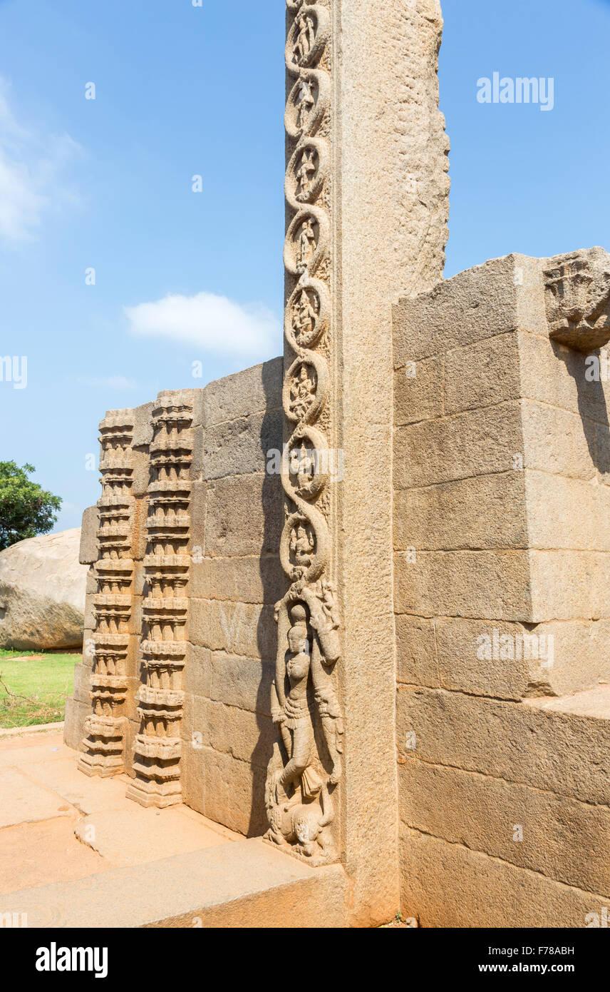 Stone work mahabalipuram stock photos