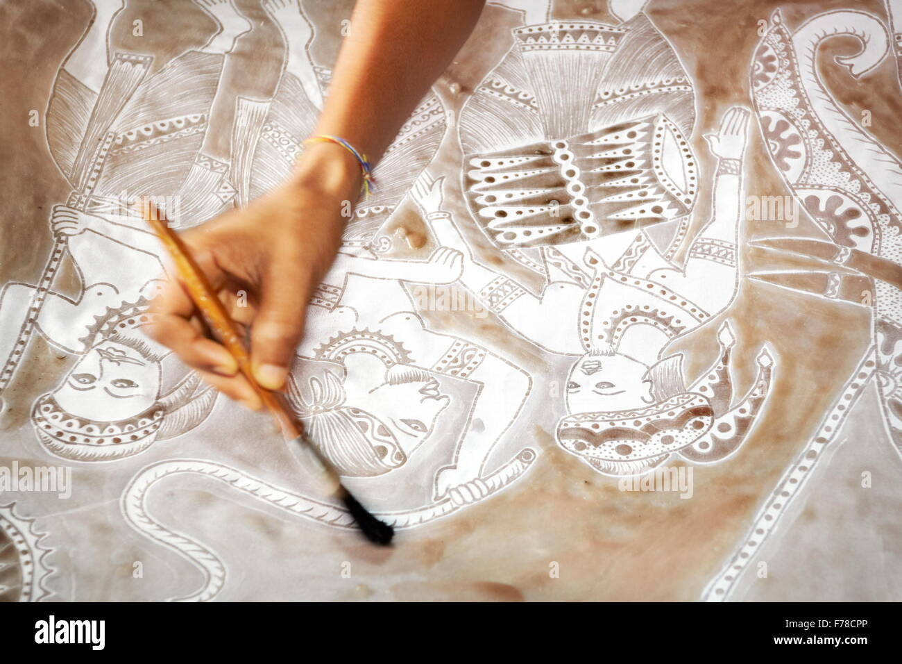 Sri Lanka - Matale, workshop, art of batik - Stock Image
