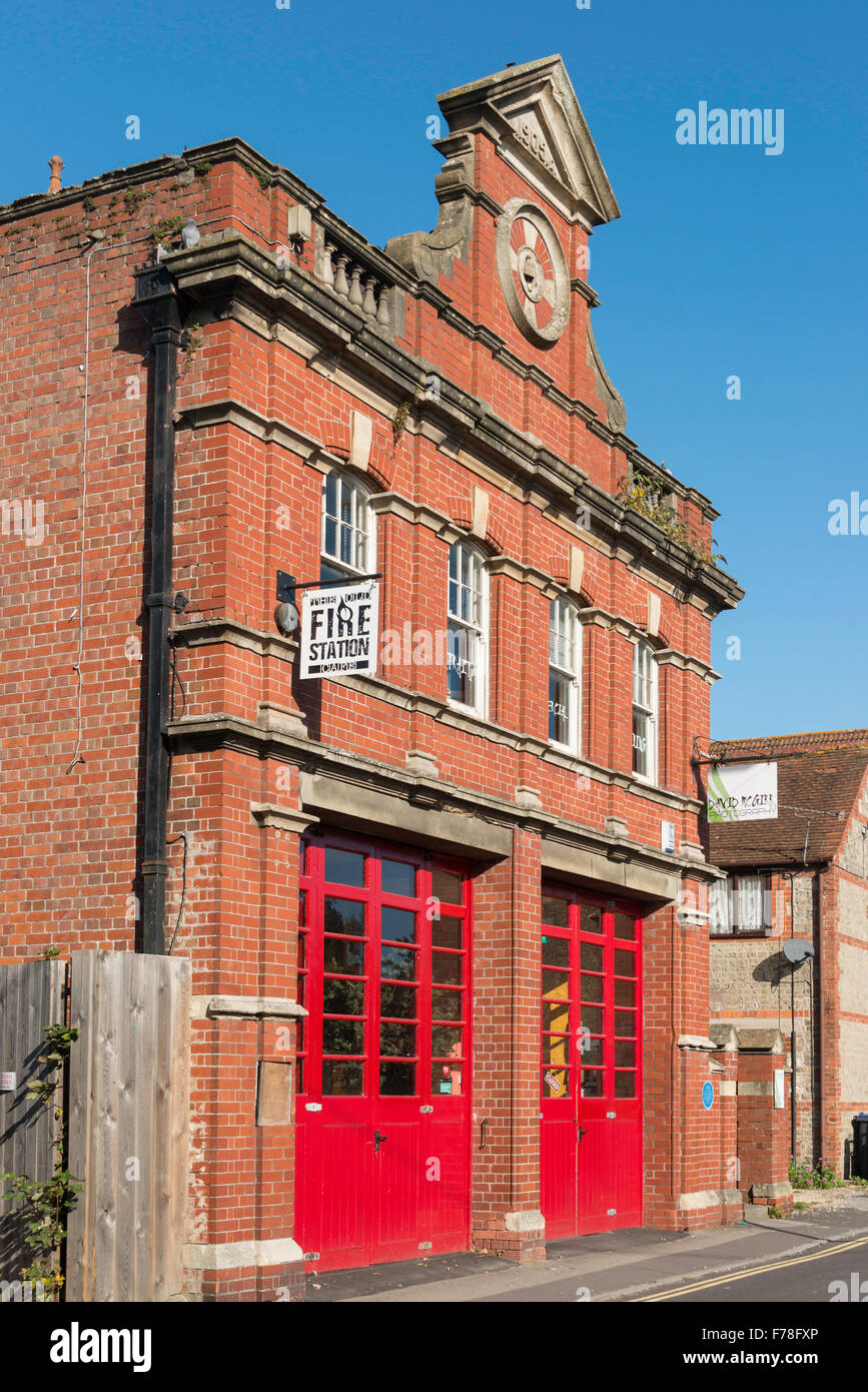 The Old Fire Station Cafe, The Close, Warminster, Wiltshire, England, United Kingdom - Stock Image