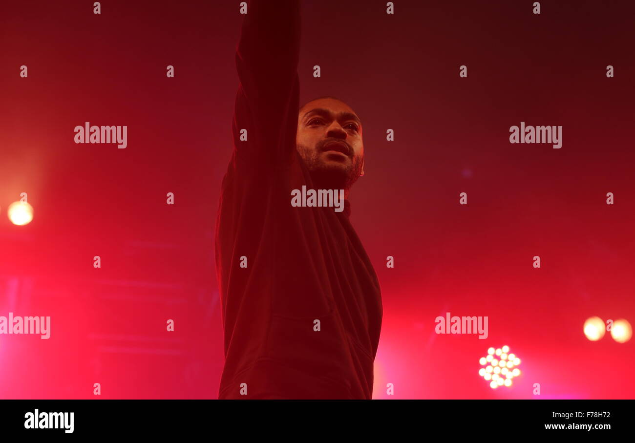 London, UK. 26th November, 2015. MC KANO in Heaven nightclub London, performing a live show Credit:  Jason John - Stock Image