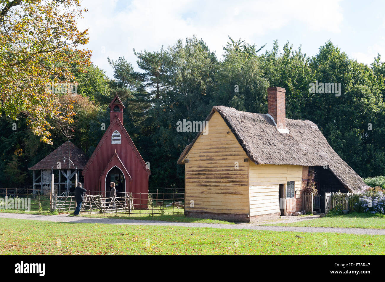 Leagrave Cottage & Henton Mission Room, Chiltern Open Air Museum, Chalfont St Giles Buckinghamshire, England, - Stock Image