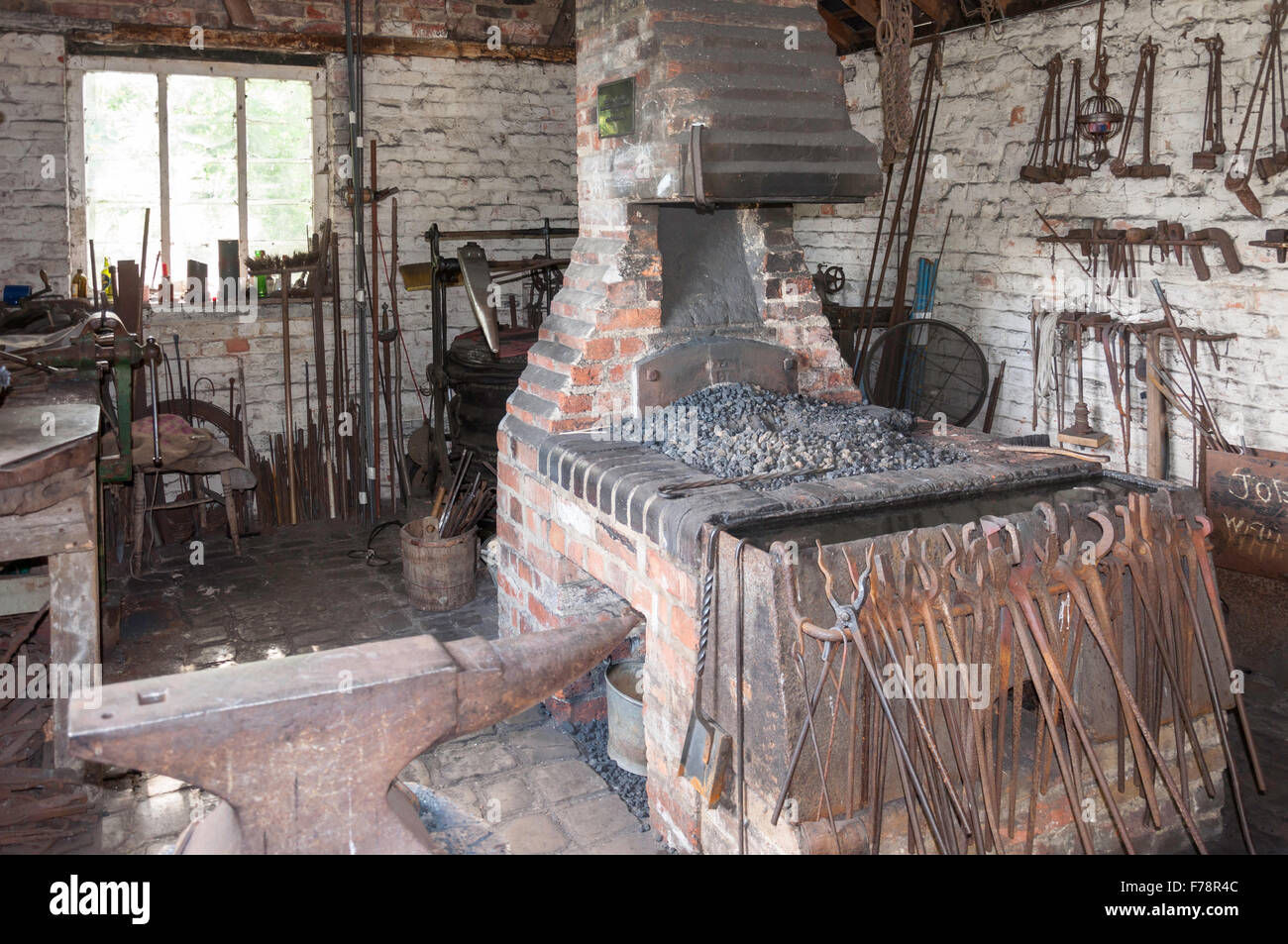 Garston Forge, Chiltern Open Air Museum, Chalfont St Giles Buckinghamshire, England, United Kingdom - Stock Image