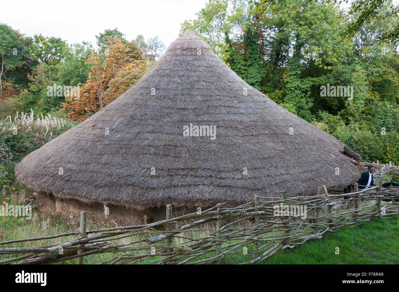 Iron Age House, Chiltern Open Air Museum, Chalfont St Giles Buckinghamshire, England, United Kingdom - Stock Image